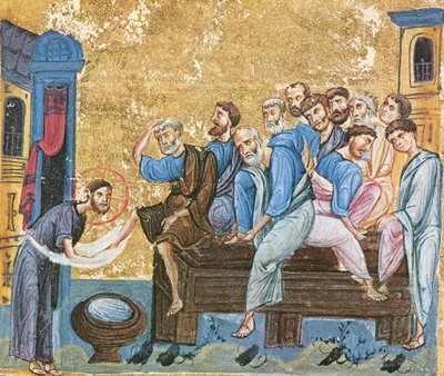 Randuiala spalarii picioarelor din Joia Mare