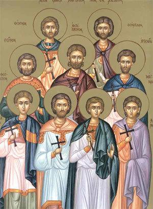 Sfanta si Marea Vineri (Zi aliturgica. Denia Prohodului Domnului) Sfintii Noua Mucenici din Cizic