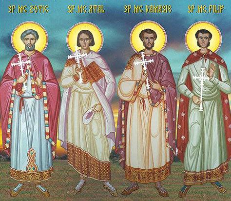 Sfintii Zotic, Atal, Camasis si Filip de la Niculitel
