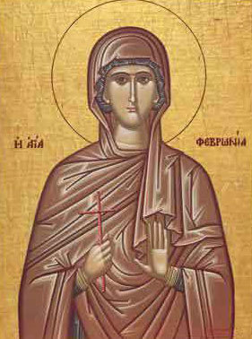 Sfanta Mucenita Fevronia; (Lasatul secului pentru Postului Sfintilor Apostoli)