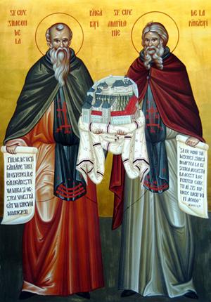 Sfantul Mucenic Sozont; Cuviosii Simeon si Amfilohie de la Pangarati