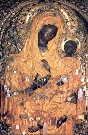 Icoana Maicii Domnului Grabnic Ascultatoare de la Manastirea Dochiariu