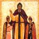 Sfantul Teodor si copiii sai David si Constantin