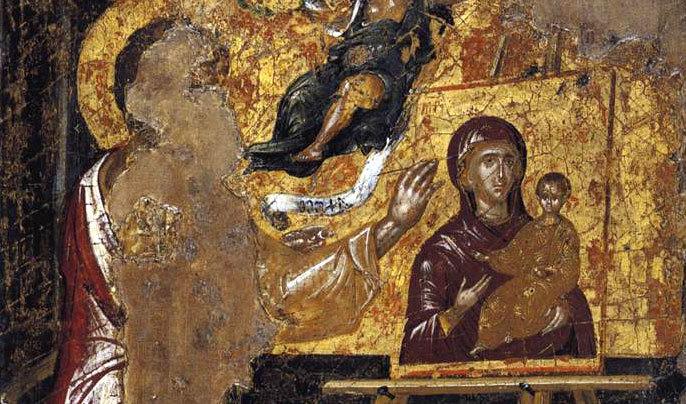 El Greco - Sfantul Luca pictand icoana Maicii Domnului