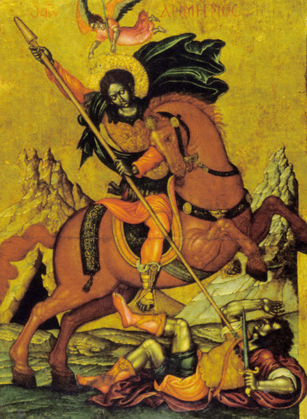 Sfantul Dimitrie cu scene din viata sa