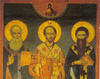 Icoana Sfintilor Trei Ierarhi de la Schitul Prodromu