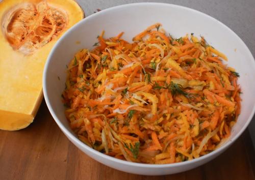Salata de dovleac cu varza murata
