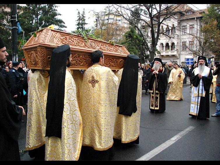 Procesiunea de scoatere a moastelor Sfintei Parascheva