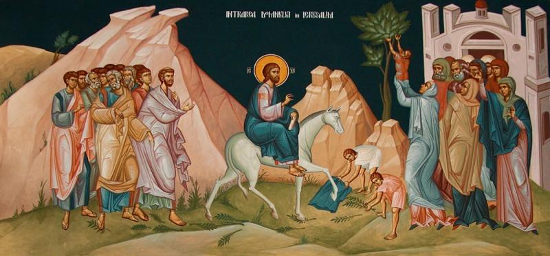 Cum era serbata Intrarea Domnului in Ierusalim, in urma cu 1500 de ani