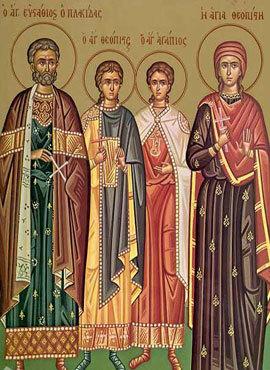 Canon de rugaciune catre Sfantul Mucenic Eustatie, sotia sa Teopisti si cei doi fii ai lor Agapie si Teopist