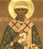 Sfantul Mucenic Clement, episcopul Romei; Sfantul Petru, episcopul Alexandriei