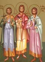 Sfintii Mucenici Tirs, Calinic, Filimon si Apolonie