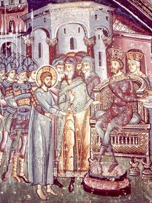 Hristos in fata lui Pilat