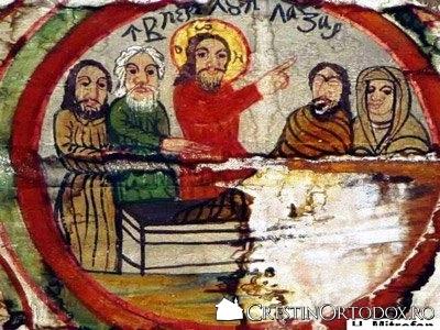 Biserica de lemn din Garbaul Dejeului - Invierea lui Lazar