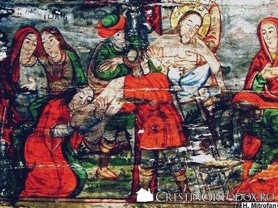 Biserica de lemn din Pausa - Coborarea de pe Cruce
