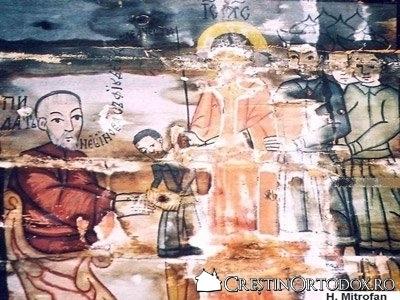 Biserica de lemn din Sarata - Judecata lui Iisus de catre Pilat