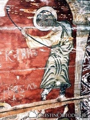 Biserica de lemn din Ungureni - Cain il ucide pe Abel