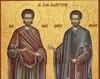 Viata sfintilor mucenici si doctori fara de arginti, Epictet preotul si Astion monahul