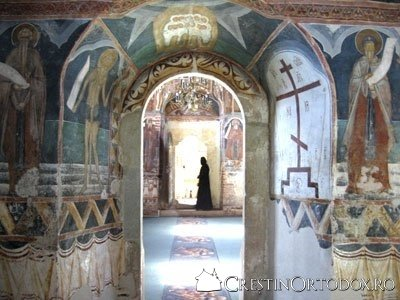 Manastirea Probota - Privire din naos