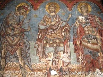 Manastirea Humor - Sfantul Nichita si Sfantul Gheorghe