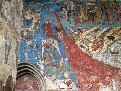 Manastirea Humor - Judecata de Apoi (detaliu - Raul cel de foc)