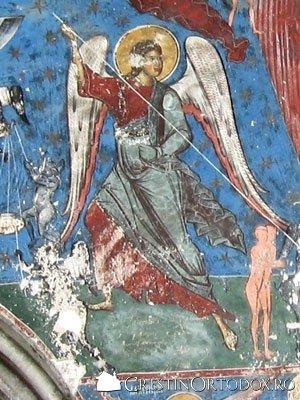 Manastirea Humor - Judecata de Apoi (detaliu - inger)