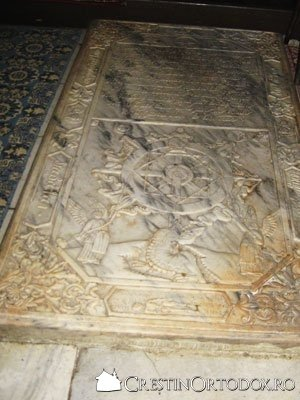 Biserica Barboi - piatra funerara