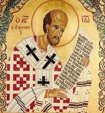 Sfantul Ioan Gura de Aur; (Lasatul secului pentru Postul Craciunului)