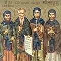 Sfantul  Xenofont, sotia sa Maria si fiii lor Arcadie si Ioan