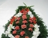 Coroana funerara cu gladiole si garoafe