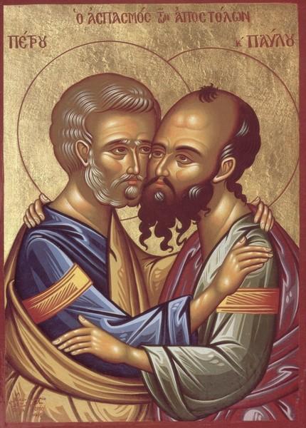 Imbratisarea Sfintilor Petru si Pavel