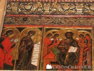 Manastirea Humor - Sfintii Apostoli si Deisis (detaliu din Catapeteasma)