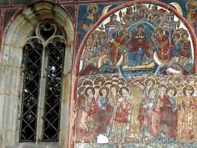 Manastirea Humor - Maica Domnului si Fereastra sculptata