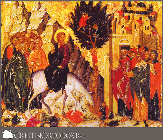 Intrarea Domnului in Ierusalim - Floriile