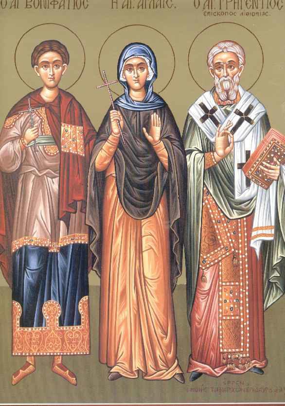 Sfantul Mucenic Bonifatie; Cuvioasa Aglaia,; Cuviosul Grichentie